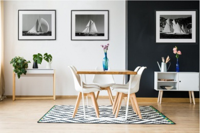 Dining room in scandi style