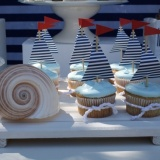 nautical_birthday_party_dessert_tables_boat_cupcakes