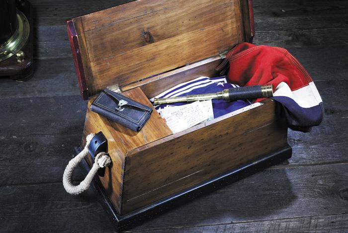 Marynistyczne skrzynie i kufry